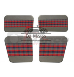 "Door lining (4 pieces) for Renault 4 grey-blue-red ""Scottish"""