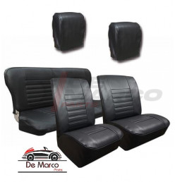 Seat covers for Renault 4, vinyl black
