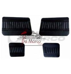 Set 4 pannelli porte vinile nero righe verticali, Renault 4