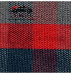 "Fabric (Sold at linear meters) grey-blue-red ""Scottish"" Renault 4"