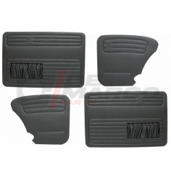 Door and quarter panels black vinyl, set of 4 pieces for Sedan Super Beetle 1302/1303, Beetle from 08/1966 and later