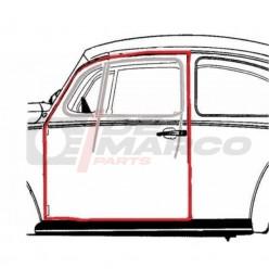 Door seal left for Beetle Sedan from 08/1955 to 07/1966