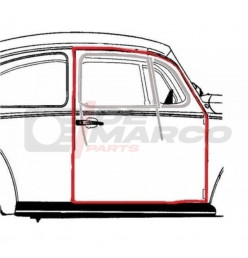 Door seal right for Beetle Sedan from 08/1955 to 07/1966