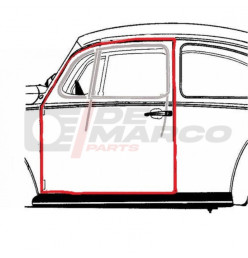 Door seal left Super Beetle, Beetle Sedan from 08/1966 and later