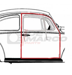 Door seal right Super Beetle, Beetle Sedan from 08/1966 and later