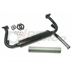 Single tip exhaust 1.3/1.5/1.6cc for Beetle, Super Beetle, Buggy, Thing 181, Karmann Ghia, Bus T1, T2