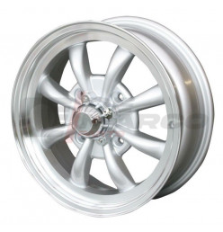 Cerchio ruota a 8 raggi in alluminio 4x130 5.5x15 ET+30 per Maggiolino, Maggiolone, Karmann Ghia, Type 3 (Alta qualità)