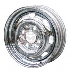 Standard wheel chrome 4x130 4.5x15 ET+45 for Beetle, Super Beetle, Buggy, Karmann Ghia, Type 3