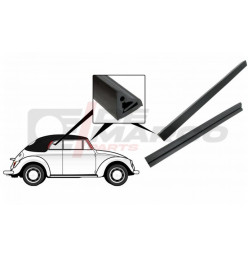Seals door to window pillar and rear topframe as pair for Cabrio Beetle and Super Beetle 1302/1303 (Top Quality)