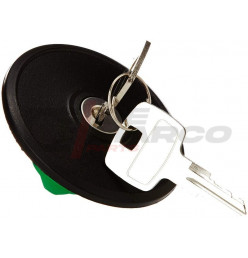 Fuel filler cap lockable black for Renault 4,R5,R6,Dauphine,R8...