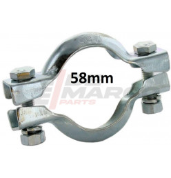 Exhaust clip 58mm