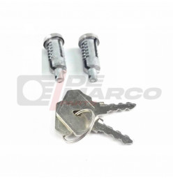 Pair lockcylinders doors, for Renault 4, R4 F4, R4 F6, R5, R6...