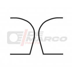 Door seals rear (1 pair) for Citroen 2CV