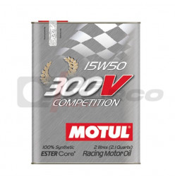 Motul engine oil 15w50 300v Competition synthetic, for classic racing cars with rebuilt engines