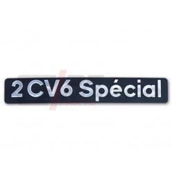 Stemma in metallo adesivo portellone posteriore 2CV6 SPECIAL