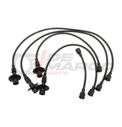 Spark plug cables silicone black, for Beetle, T1, T2, KG...