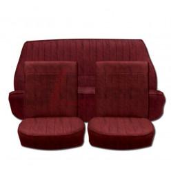 Set Rivestimenti sedili vinile rosso bordeaux Renault Dauphine