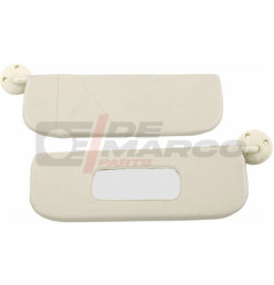 Sun visor (1 pair) beige for Renault 4