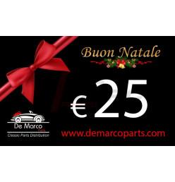 Buono regalo, BUON NATALE da 25,00 Euro
