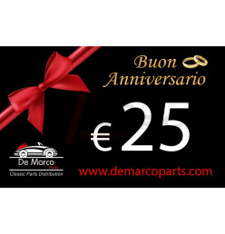 Coupon 25,00 euro HAPPY ANNIVERSARY