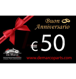 Coupon 50,00 euro HAPPY ANNIVERSARY