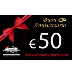Coupon 50,00 euro HAPPY ANNIVERSARY