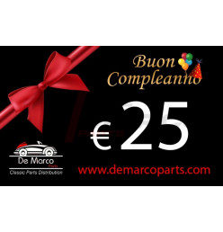 Coupon 25,00 euro HAPPY BIRTHDAY