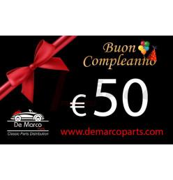 Buono regalo, BUON COMPLEANNO da 50,00 euro
