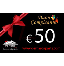 Coupon 50,00 euro HAPPY BIRTHDAY