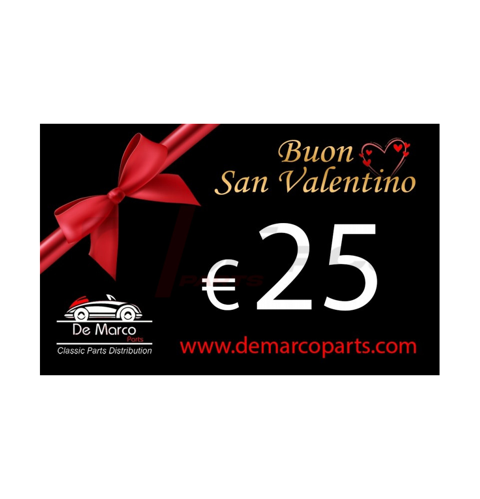 Buono regalo, BUON SAN VALENTINO da 25,00 euro