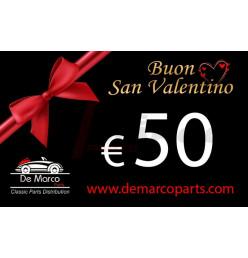 Buono regalo, BUON SAN VALENTINO da 50,00 euro