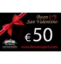 Coupon 50,00 euro HAPPY VALENTINE'S DAY