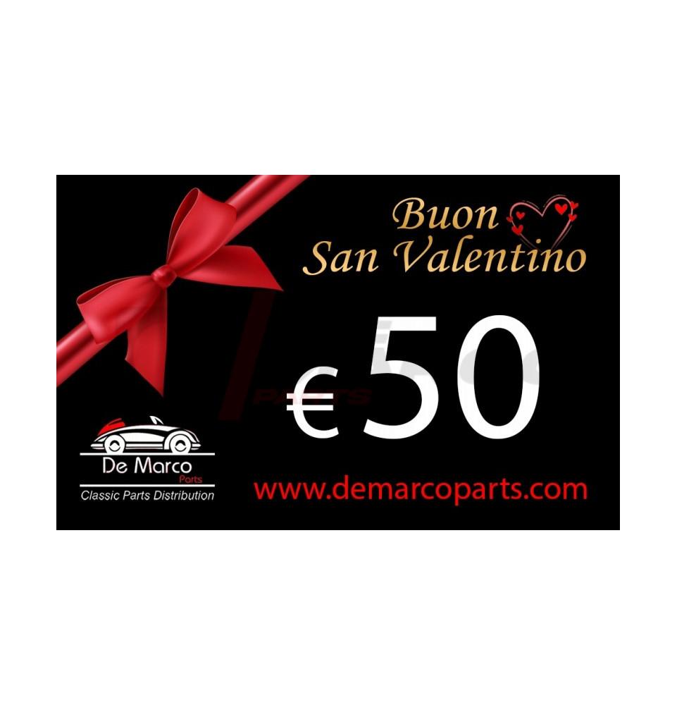 Coupon 50,00 euro HAPPY VALENTINE'S DAY