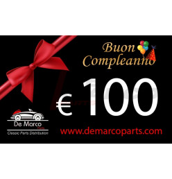 Coupon 100,00 euro HAPPY BIRTHDAY