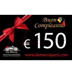 Coupon 150,00 euro HAPPY BIRTHDAY