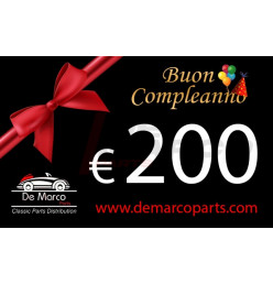 Coupon 200,00 euro HAPPY BIRTHDAY