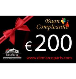 Coupon 200,00 euro HAPPY BIRTHDAY