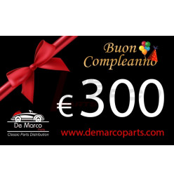 Coupon 300,00 euro HAPPY BIRTHDAY