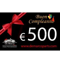 Buono regalo, BUON COMPLEANNO da 500,00 euro
