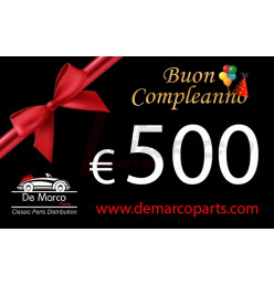 Coupon 500,00 euro HAPPY BIRTHDAY