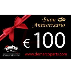 Buono regalo, BUON ANNIVERSARIO da 100,00 euro