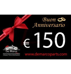 Coupon 150,00 euro HAPPY ANNIVERSARY