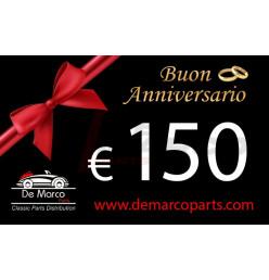 Coupon 150,00 euro HAPPY ANNIVERSARY