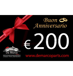 Coupon 200,00 euro HAPPY ANNIVERSARY