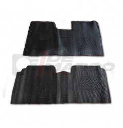 Front and rear rubber carpets (2pcs) Renault 4