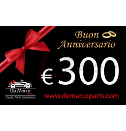 Coupon 300,00 euro HAPPY ANNIVERSARY
