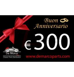 Coupon 300,00 euro HAPPY ANNIVERSARY