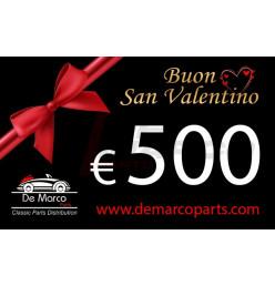 Coupon 500,00 euro HAPPY VALENTINE'S DAY