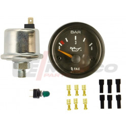 Oil pressure gauge kit 0-6 BARS for Renault 4, R5, R6, 2CV...
