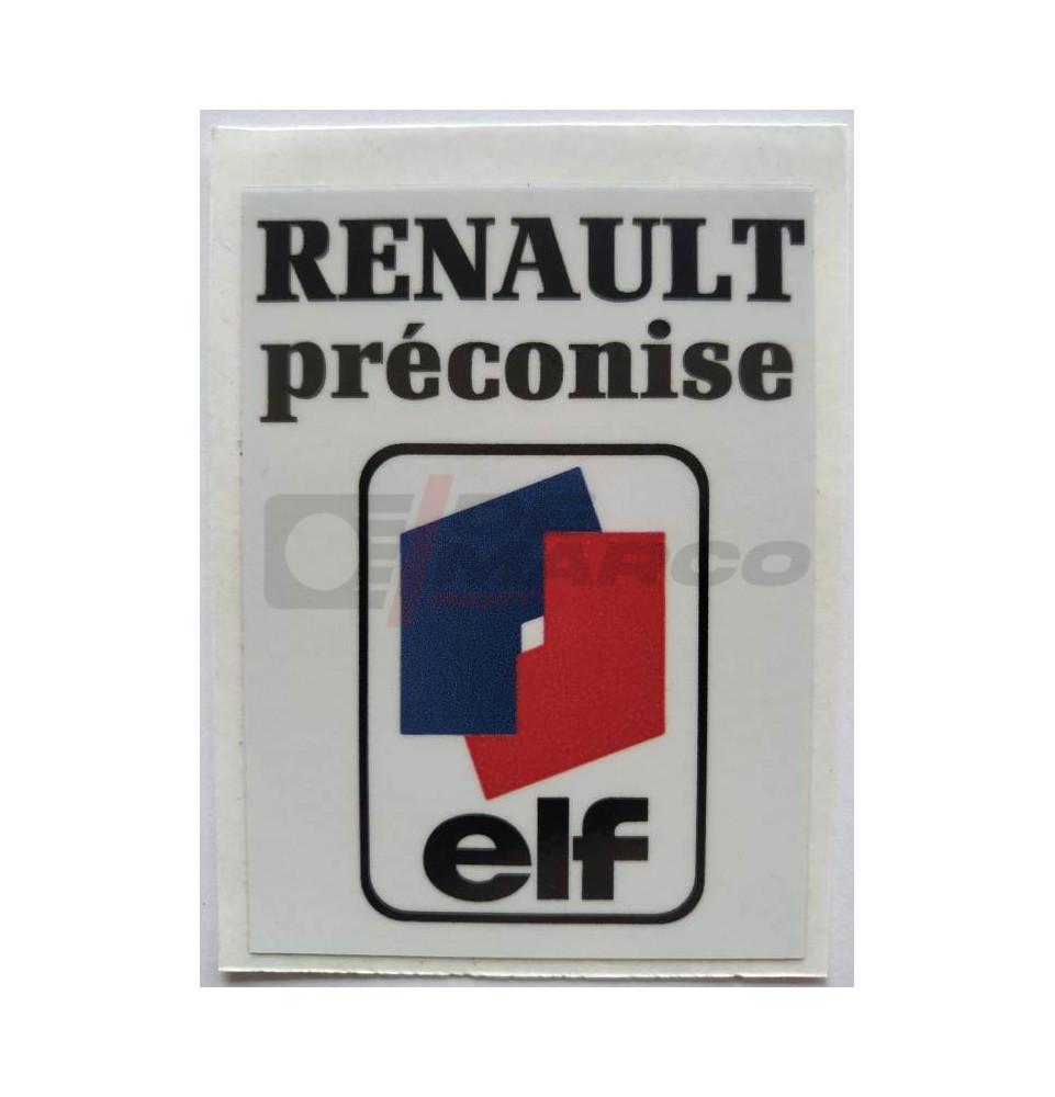 "Adesivo Renault ""RENAULT PRÉCONISE ELF"""